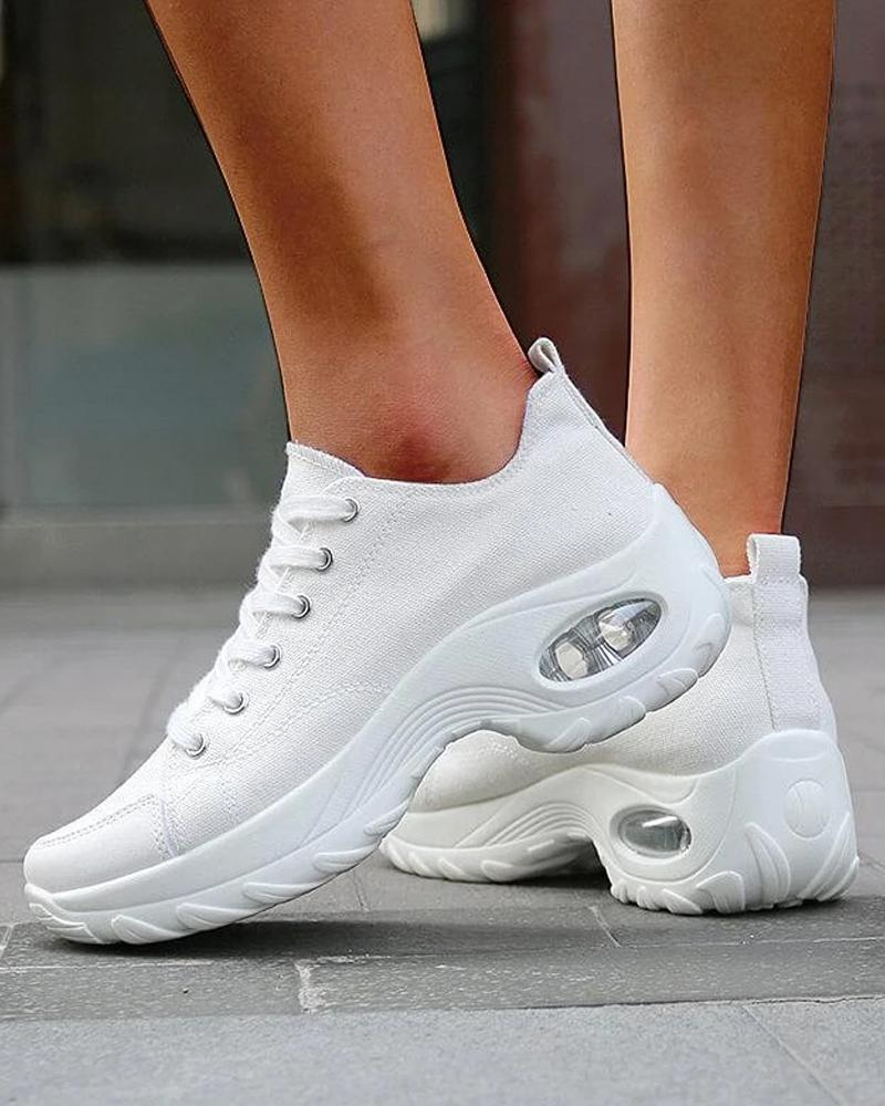 chicme / Solid Canvas Air Cushion Sneakers