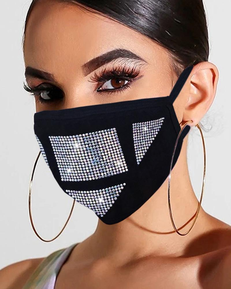 Studded Glitter Breathable Mouth Mask Reusable фото