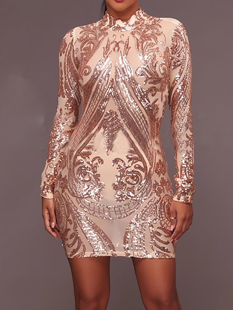 boutiquefeel / Mini vestido brillante con lentejuelas y bodycon