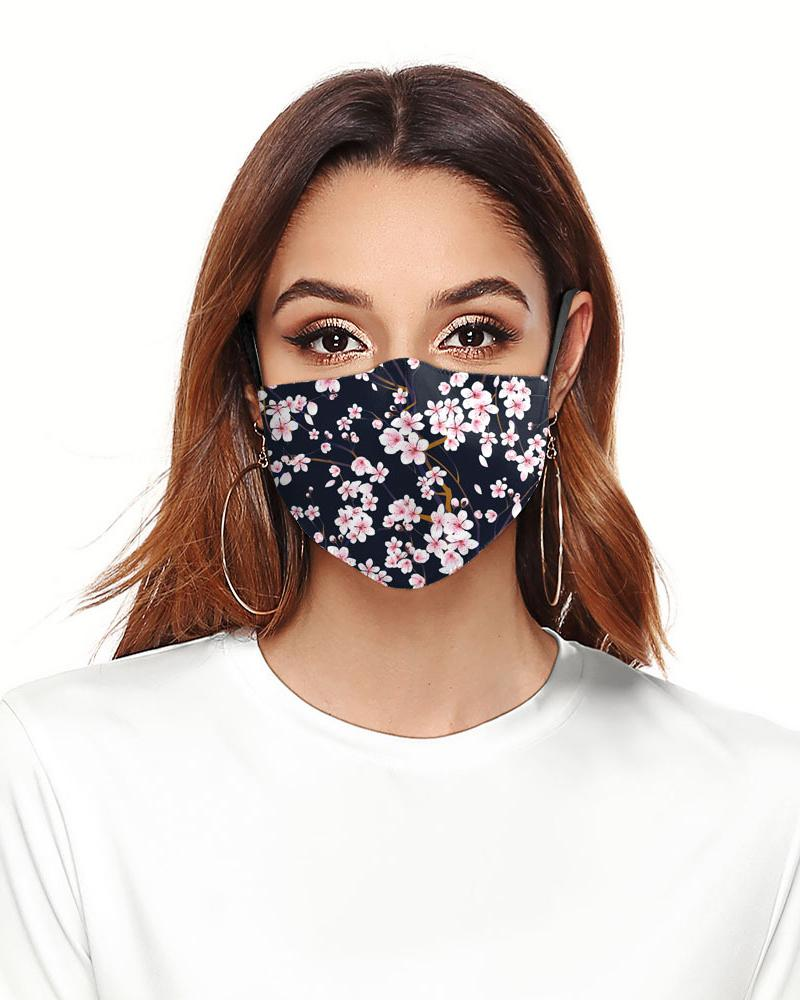 Daisy Floral Print Colorblock Breathable Face Mask фото