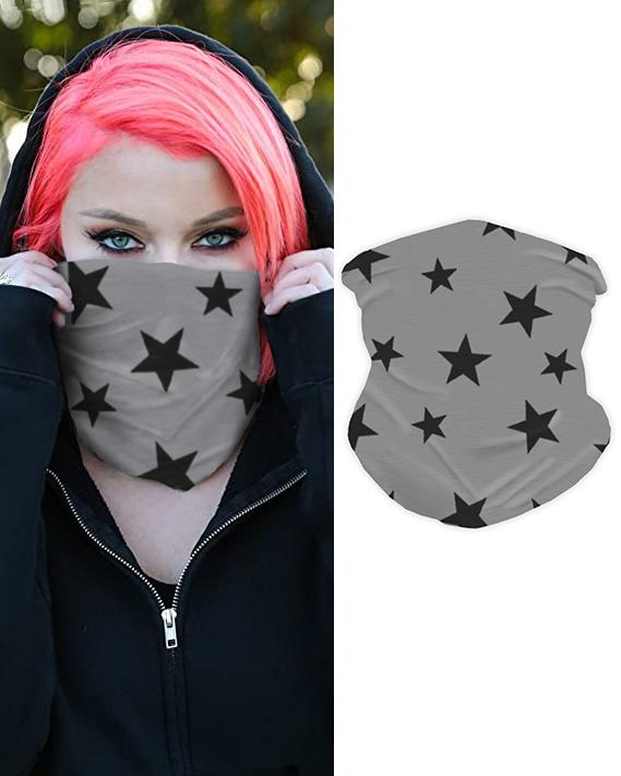 boutiquefeel / Pañuelo de cara transpirable con estampado de estrellas Pañuelo mágico Pasamontañas