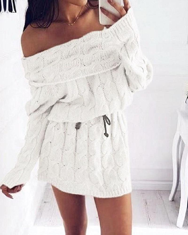 High Neck Mohair Sweater Dress фото