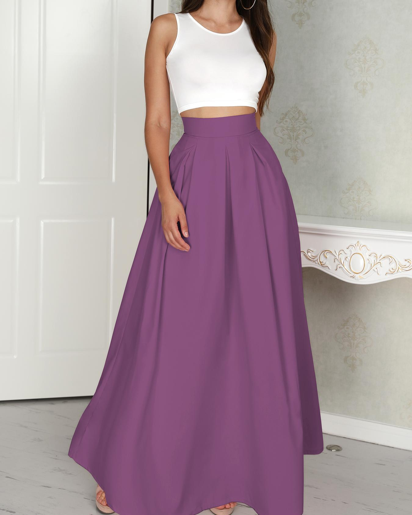 Sleeveless Cropped Top & Pleated Skirt Sets фото