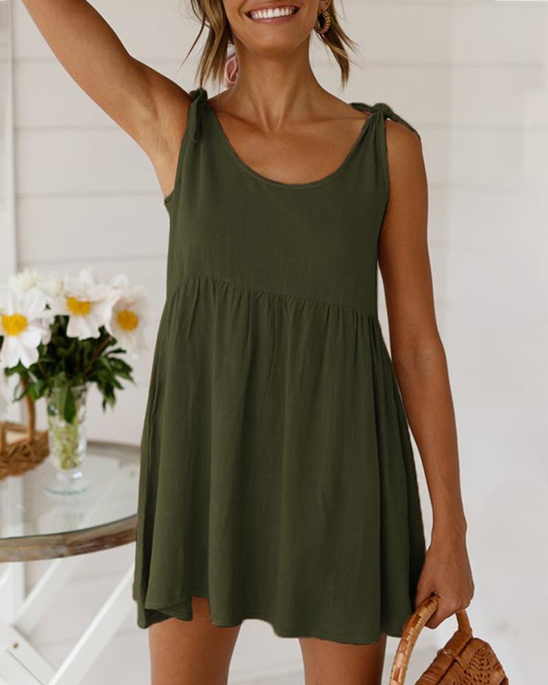 ivrose / Tied Detail Sleeveless Casual Dress