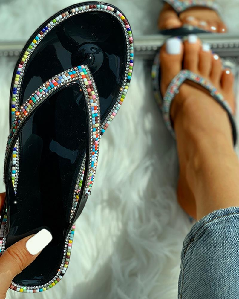 Studded Toe Post Slipper Sandals фото