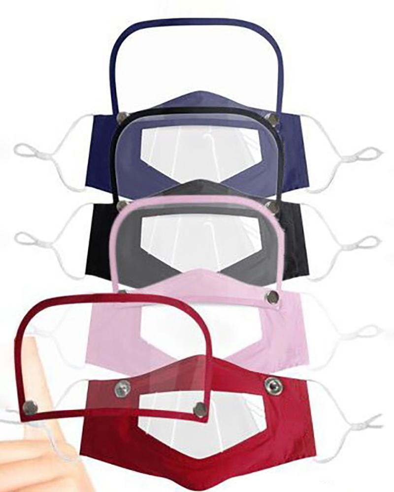 chicme / Mascarilla con ventana transparente Expresión visible para lectura de labios con protector de ojos