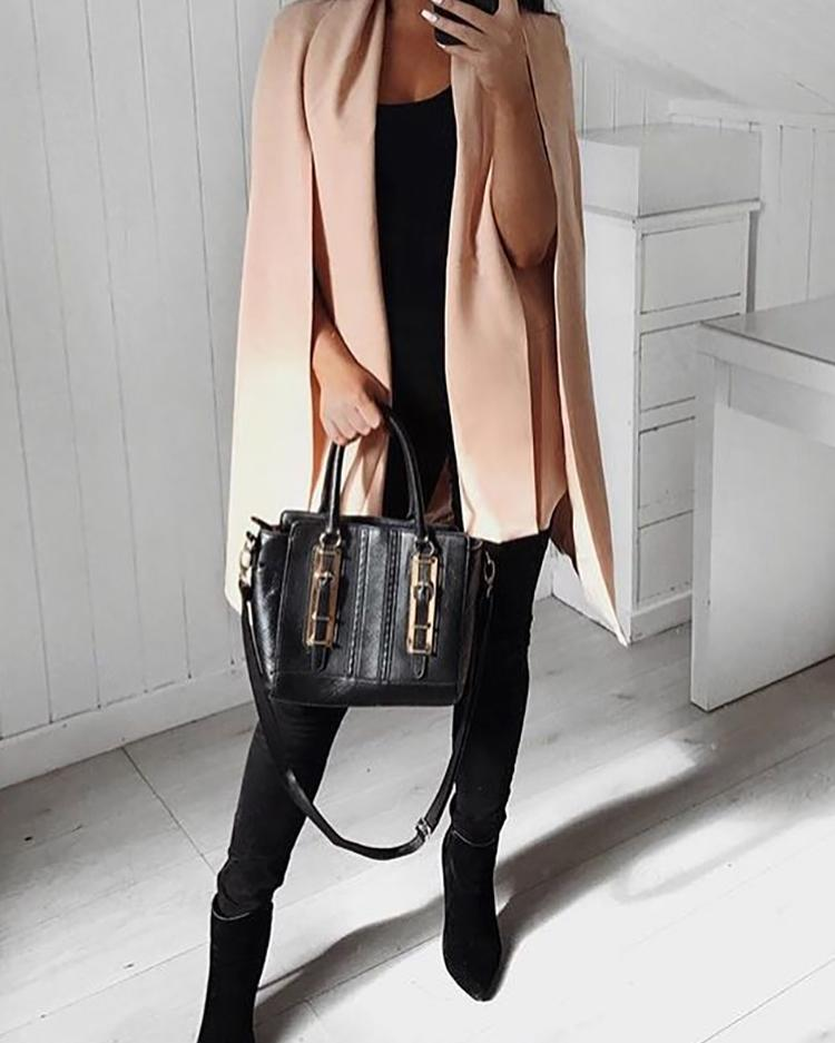Trendy Cape Sleeve Blazer Coat фото
