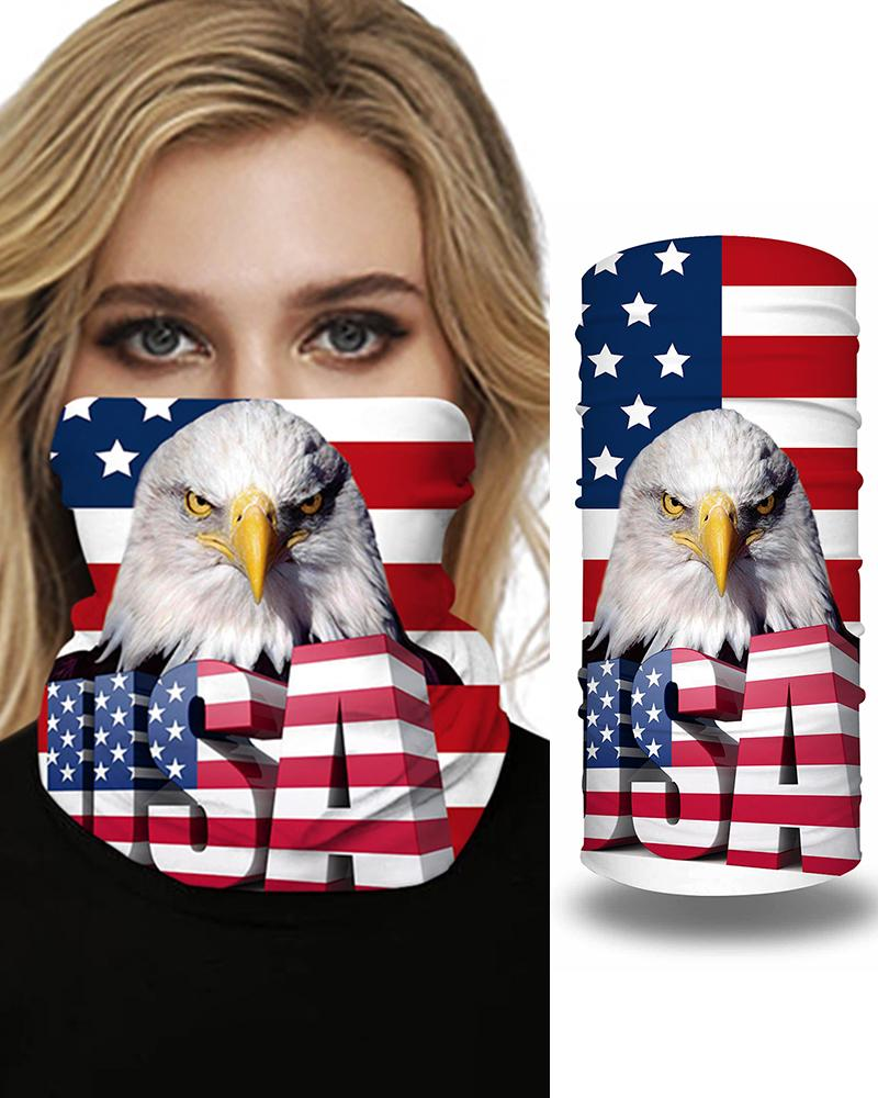 Flag Animal LetterPrint Breathable FaceBandana Magic Scarf Headwrap Balaclava фото