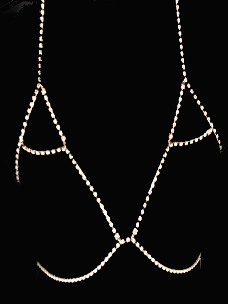 Alluring Sparkly Shiny Body Chains