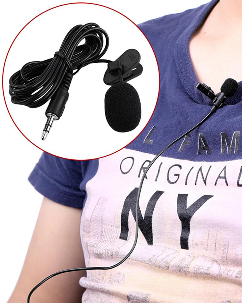 Portable External 3.5mm Hands-free Mini Wired Clip-on Lapel Lavalier Microphone For PC Laptop 3.5mm External фото