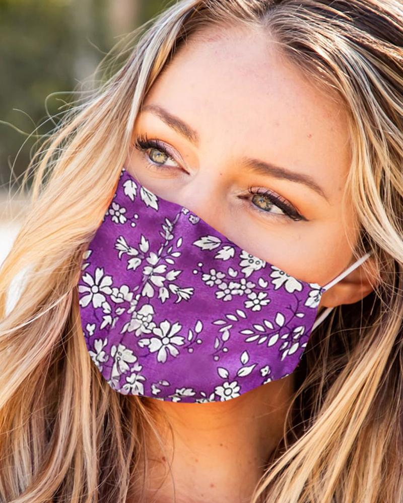 Print Breathable Mouth Mask Washable And Reusable фото