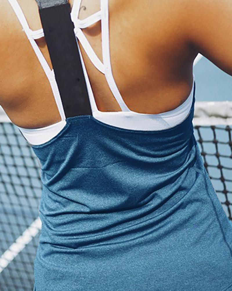 Cold Shoulder Solid Sporty Top фото