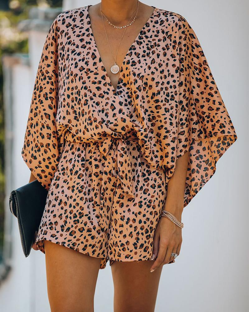boutiquefeel / Mameluco Kimono Estampado Leopardo