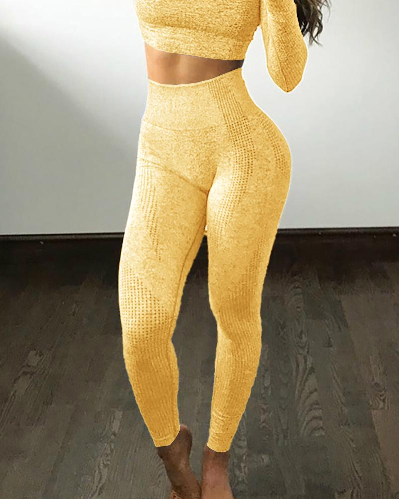 High Elastic Fitness Sport Gym Leggings Yoga Pants фото