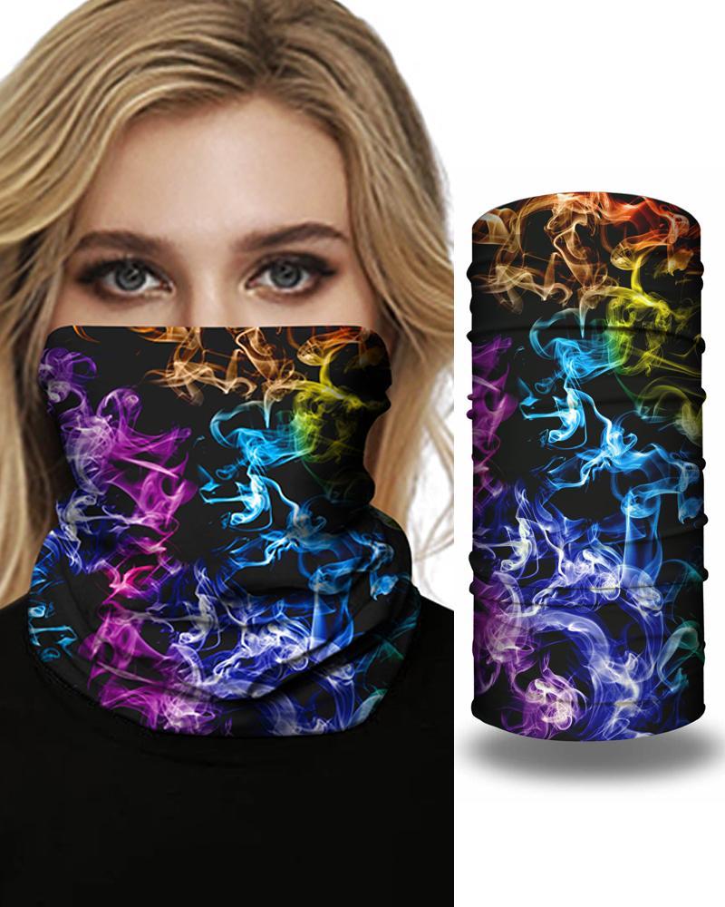 Cloud Sky Sparkle Sky Print Face Bandana Magic Scarf Headwrap Balaclava, Multicolor